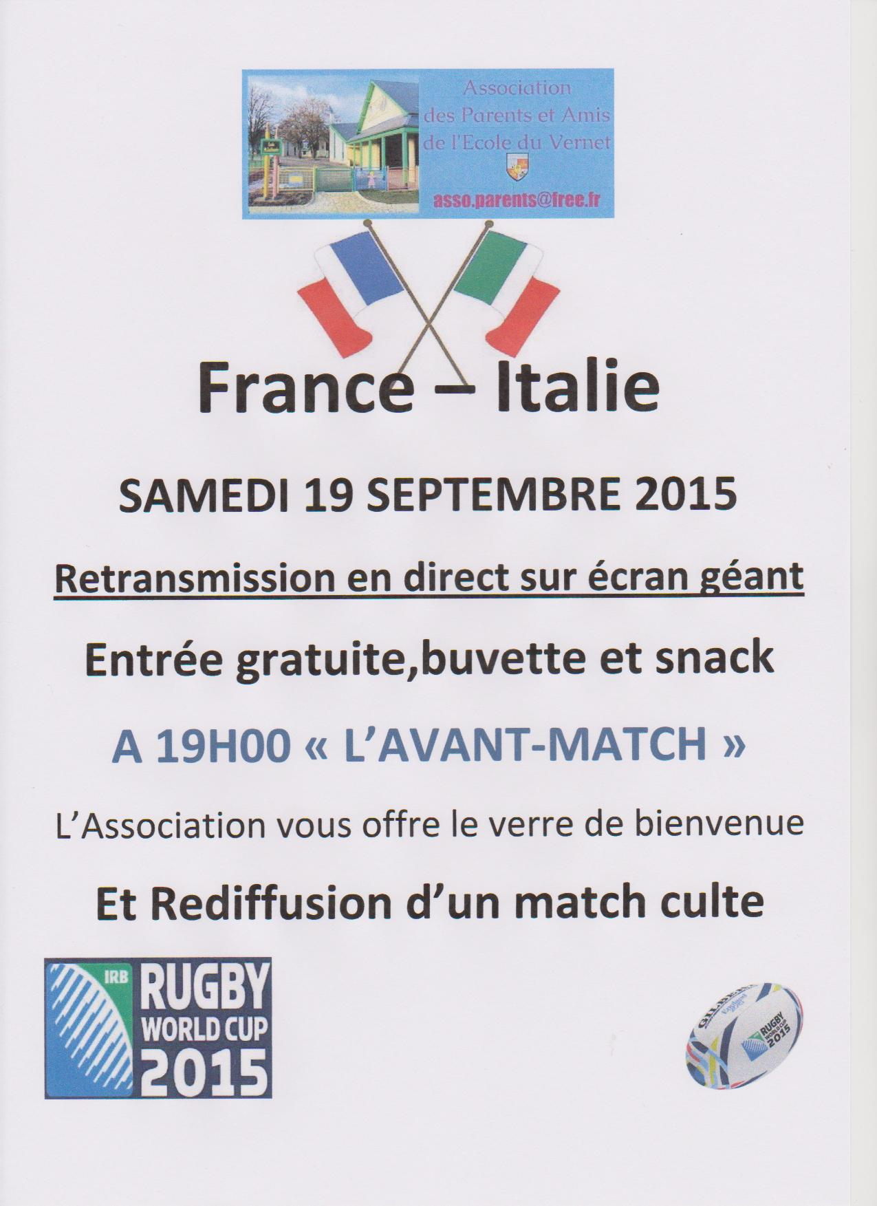 Le vernet - Retransmission coupe europe rugby ...